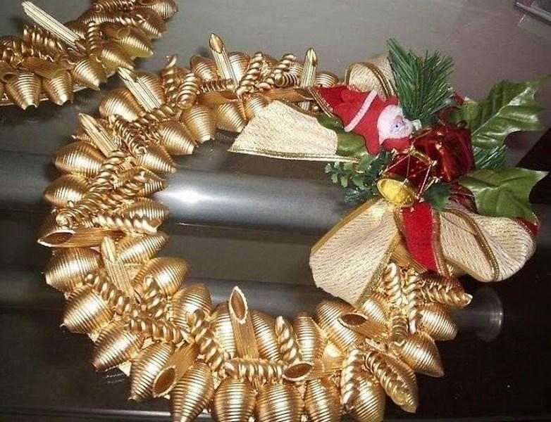 Новогодние поделки из макарон своими руками на 2018 год
